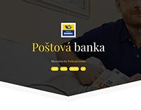 Poštová banka - microsites