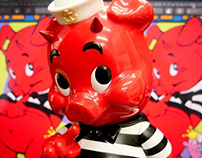 Frank Kozik Piggums for Blackbook Toy