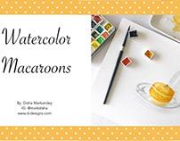 Skillshare Class -  Macaroons using watercolors