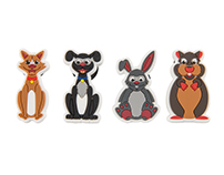 Support Adoption for Pets Character Pin Badges