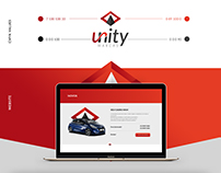 Unity Marcas logo and webdesign