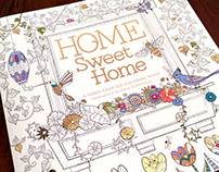 Home Sweet Home - Adult Coloring Book