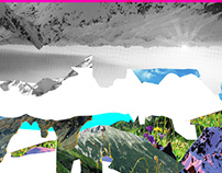 Experimente am Berg · Collage Series 7