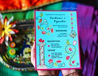 Retro Wedding Invite - Illustrated Indian Invitation