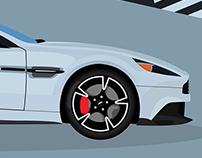 Aston Martin Vanquish - Poster Design