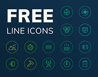 Free Line Icons. Watches Features.