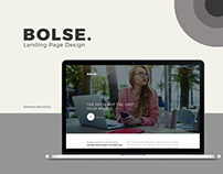 Bolse Landing page design
