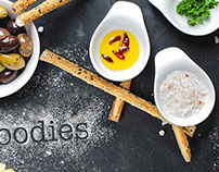 ''Food loves you too.'' Logo and web development
