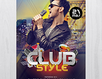 Club Style - Free PSD Flyer Template