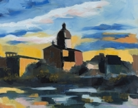 Florence, Sunset on San Frediano