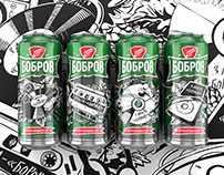 Bobrov Limited edition of beer packaging