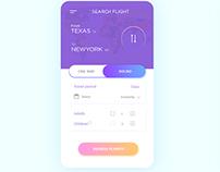 Daily UI Design - Travel APP screen