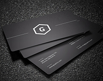 2 in 1 Black & White Business Card