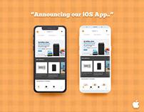 First Look of GrabOnRent iOS App_Free PSD Mockup