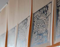 Linocut postcards