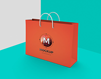 Shopping Bag Mockup on Texture Background
