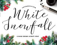 White Snowfall Script Font