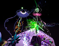 3D animation of fantasy world