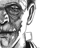 Frankenstein - iPad art - finger