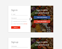 Login / Register Design for Grocermax.com