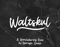 Waltskul Handwritten Font - FREE SCRIPT FONT