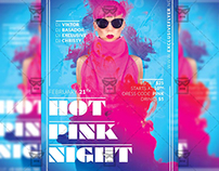 Hot Pink Night - Club A5 Flyer Template