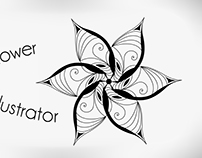 Vector flower Adobe Illustrator tutorial