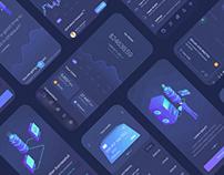Qoinstack - Crypto Wallet Mobile App Design