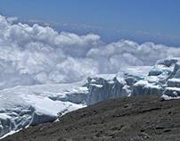 A glacier in Mt. Kilimanjaro in tropical Tanzania | Ima