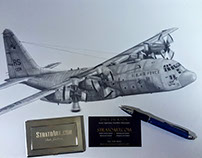 Drawing a C-130 Hercules from start to finish