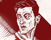 Mesut Özil Illustration