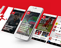 Bundesliga's app redesign proposal