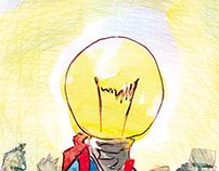 Ilustrações para o caderno 'Internacional', no JC-PE