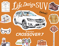 SUBARU Exiga Crossover7 Ad Illustration