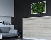 Smartbett 120x200cm White/Oak Sonoma