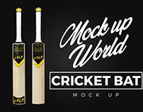 Cricket Bat Mock Up - Front and Back
