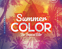 Summer Color - PSD Flyer Template