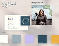Styleboard for Spiritual Coaching Site