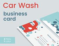 Car Wash - Business Card Template