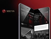 AC Milan UI Concept
