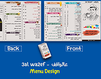 Cafe menu design mock up