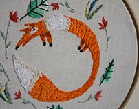 embroidery animals