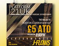 PLATFORM 21UK  poster design