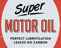 Vintage Motor Oil Illustrations