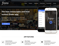 Frono - Mobile App Landing Page