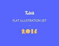 Flat illustration set