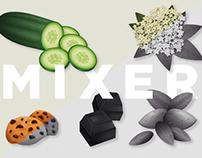 Mixer syrups // Vector illustration
