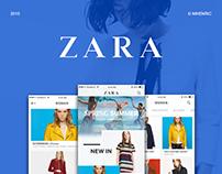 [Free] Zara redesign concept - UI/UX Design