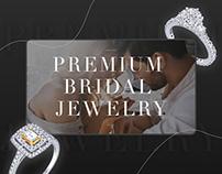 Website design for premium bridal jewelry company
