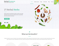 Free Herbal WordPress theme